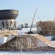 Возле казанской «Чаши» начали строить ледовый городок