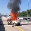 Видео: два человека заживо сгорели в ДТП на трассе Москва — Петербург
